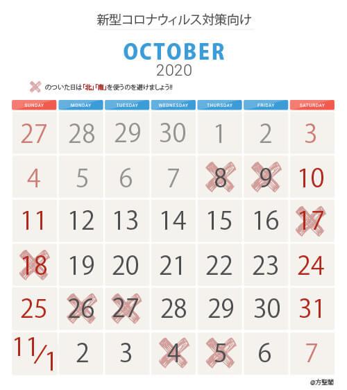 10_新型コロナウィルス注意カレンダー